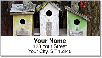 Rustic Birdhouse Address Labels