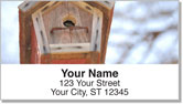 Wooden Birdhouse Address Labels