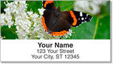 Red Admiral Butterfly Address Labels