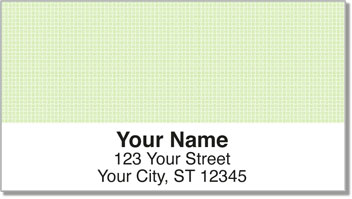 Green Cross-Hatch Address Labels