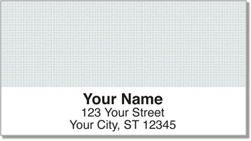 Gray Cross-Hatch Address Labels