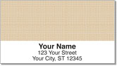 Orange Cross-Hatch Address Labels