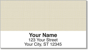 Tan Cross-Hatch Address Labels