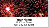 4th of July Fireworks Address Labels