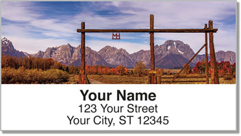 Dude Ranch Address Labels