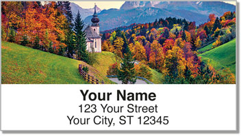 Fall in the Country Address Labels