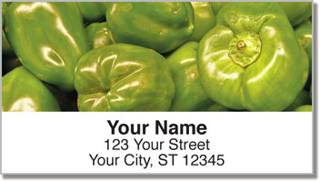 Photogenic Pepper Address Labels