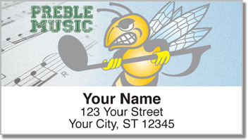 Preble Music Address Labels