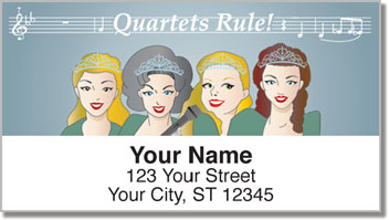 TuneTown Girls Barbershop Quartet Address Labels