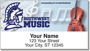 Green Bay Southwest Music Address Labels