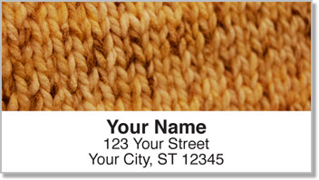 Knitting & Stitching Address Labels