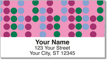 Retro Dot Address Labels