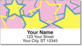 Multi-Colored Stars Address Labels