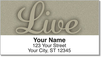 Inspiration Address Labels
