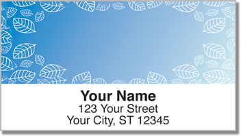 Leaf Border Address Labels