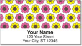 Retro Flower Address Labels