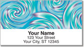 Psychedelic Swirl Address Labels