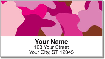 Cute Camo Address Labels