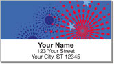 Patriotic Fireworks Address Labels