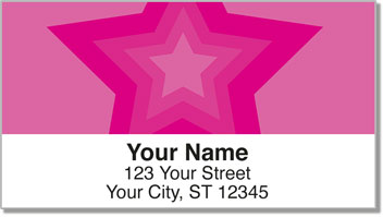 Centered Star Address Labels