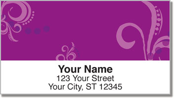 Flower Tattoo Address Labels