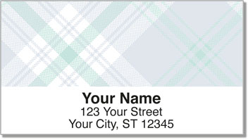 Pretty in Plaid Address Labels