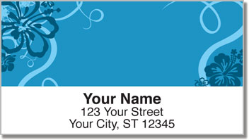 Hibiscus Flower Address Labels