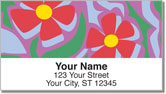 Girly Flower Address Labels