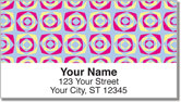 Retro Pattern Address Labels
