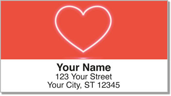 Glowing Heart Address Labels