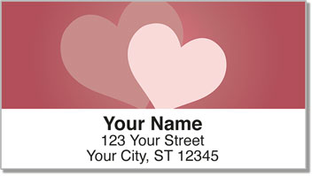 Two Hearts Address Labels
