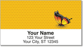 Butterfly Design Address Labels