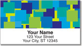 Scattered Square Address Labels