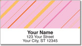 Colorful Pinstripe Address Labels