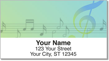 Musical Note Address Labels
