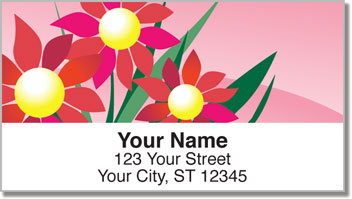 Spring Flower Address Labels
