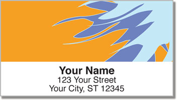 Bursts of Color Address Labels