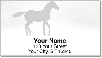 Horse Silhouette Address Labels