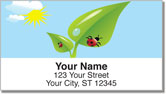 Cute Ladybug Address Labels