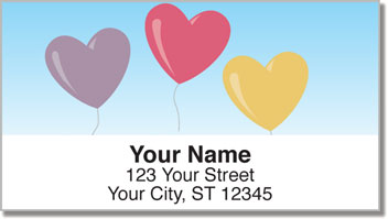 Heart Balloon Address Labels