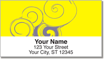 Seashell Swirl Address Labels