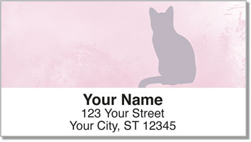 Cat Silhouette Address Labels
