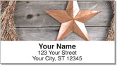 Rustic Star Address Labels
