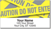 Caution Tape Address Labels
