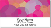 Psychedelic Bubble Address Labels
