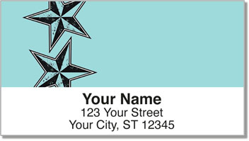 Nautical Star Address Labels
