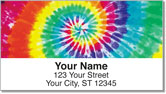 Tie Dye Address Labels