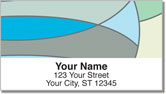 Cool Blue Curve Address Labels