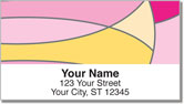Hot Pink Curve Address Labels