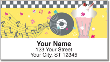 1950s Rock & Roll Address Labels